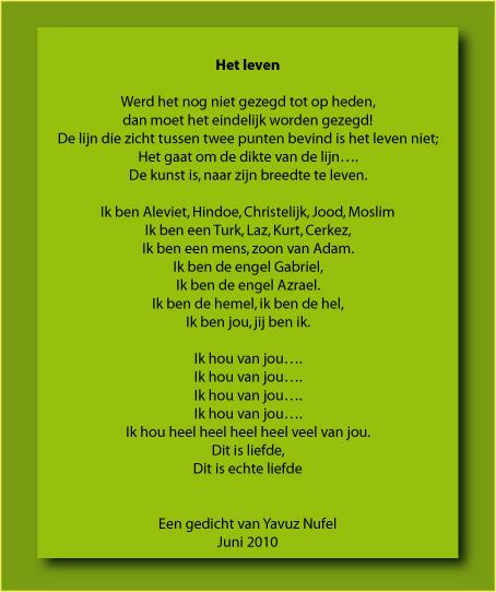 """Gedicht """"het leven"""" van Yavuz Nufel"""